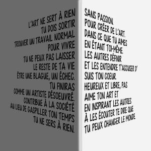 art texte coin
